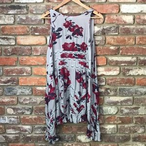 Free People Floral Flowy Trapeze Slip Dress